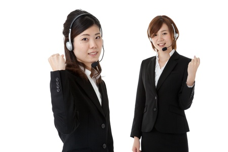 This is a photo of two young business people. Stock Photo - 16559382