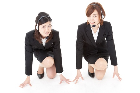This is a photo of two young business people. Stock Photo - 16574136