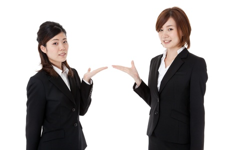 This is a photo of two young business people. Stock Photo - 16660676