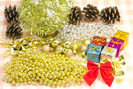 This is a photo of Christmas ornaments. photo