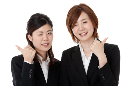 two young business people. photo