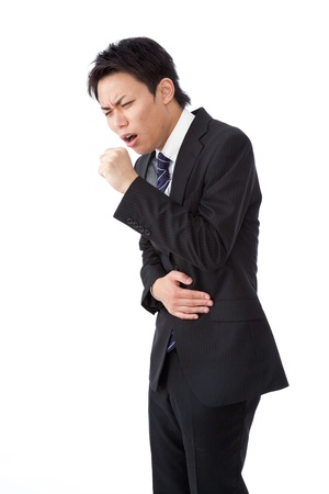 cough: un hombre de negocios con una tos