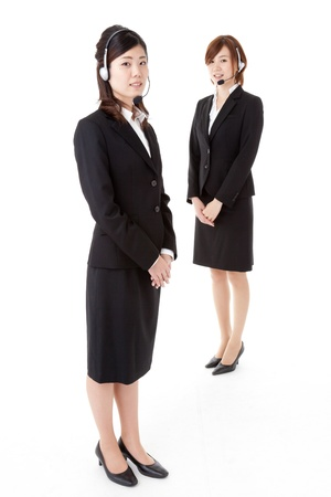 two young business people  photo