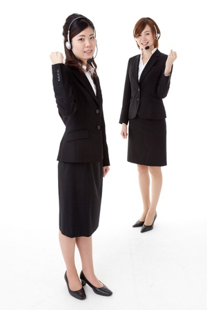 This is a photo of two young business people. Stock Photo - 16763241