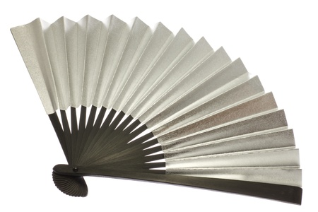 This is a photograph of a fan of silver.  Stock Photo