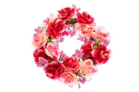 This is a photo of the rose Wreath. Stock Photo