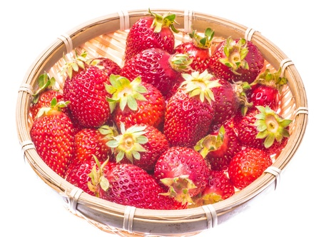 This is a photo of strawberry that was served in a bamboo basket. Stock Photo - 18843568