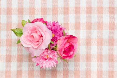 This is a photo of artificial roses. Stock Photo