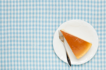 This is a photo of a piece of cheese cake.