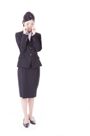 a young business woman that sobbing  Stock Photo - 20360465