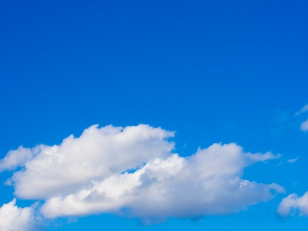 This is the clouds and blue sky on a sunny day.