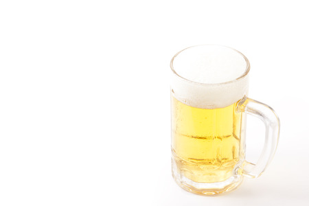 This is a beer that was poured into a mug. Stock Photo