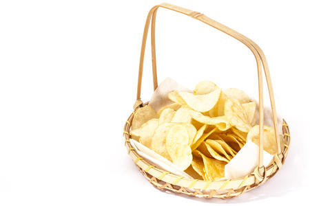 This is a bamboo basket to put the potato chips.