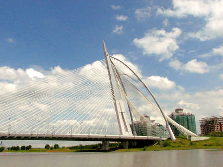 scenary: Putrajaya Bridge Stock Photo