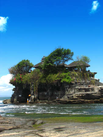 tourist spots: Temple in Tanah Lot, Bali
