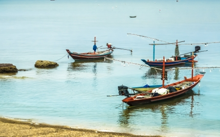 boat Beach sea thailand Stock Photo