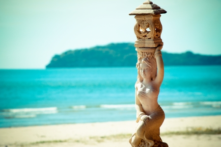 Statue sea thailand Stock Photo