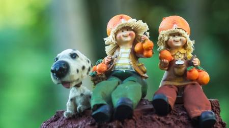 Garden dolls Stock Photo