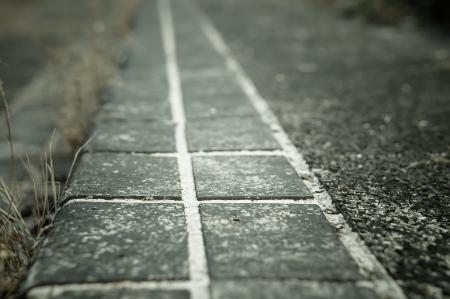 Pathway stone crack Stock Photo