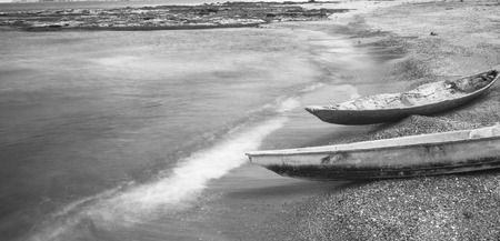 Old Boats Black and White