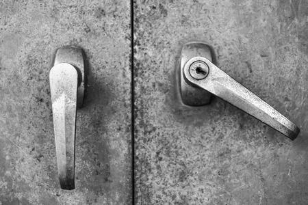 Door lock steel old safety