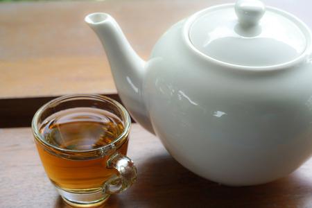 water tea in coffee shop
