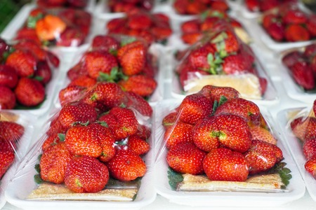 strawberry red in the market