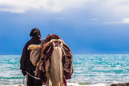 herder: Tibetan Yak Herders at Namtso Lake