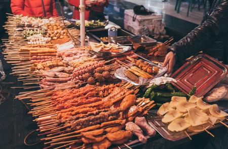 중국 난중의 거리 음식 스톡 콘텐츠