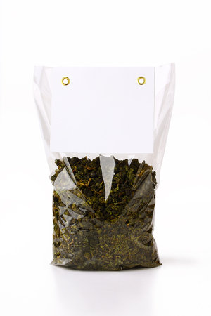 tea packaging Stock Photo