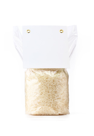rice packaging Stock Photo