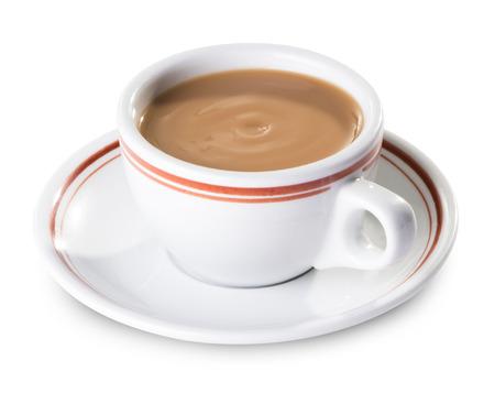 tazzina caff�: t� al latte Archivio Fotografico