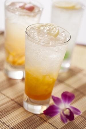 icecube: mango and pomegranate soda