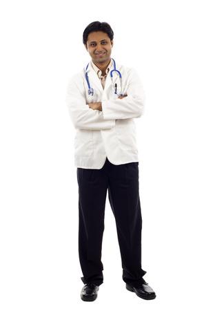 Doctor full length portrait
