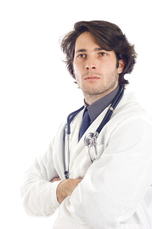 Medical Doctor with Stethoscope - Isolated over a white background