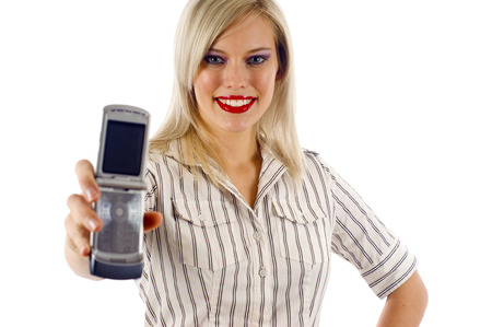 woman on phone: Business Woman- Mobile Phone