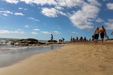mas: Mas Palomas, Gran Canaria, Spain, 11 November, 2012, A day on the beach Editorial