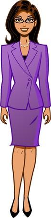 Attractive Ethnic Businesswoman in Power Suit Vectores