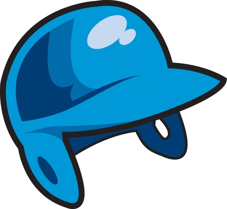 Blue Batters Helmet for Baseball, Softball or Little League Vector