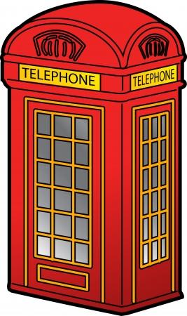 Classic Red Phone británico cabina Foto de archivo - 20686693