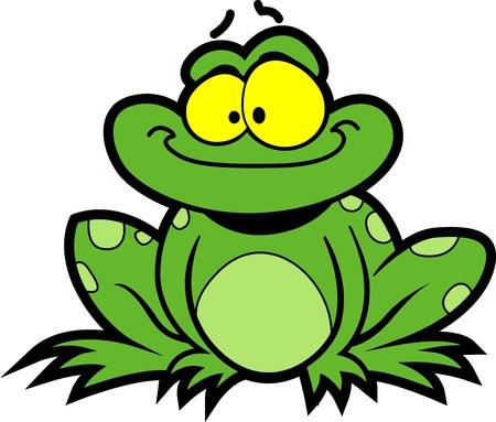 Happy Smiling Cartoon Frog