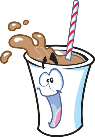 Happy Milkshake Cartoon Character Stock Vector - 20686706