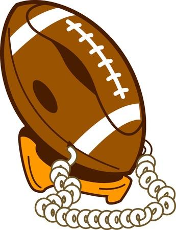 corny: Classic Corny Kitschy Retro Football Phone Illustration