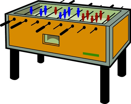 foosball: Cartoon Illustration of a Foosball Table Illustration