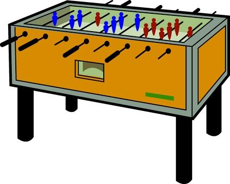 Cartoon Illustration of a Foosball Table Illusztráció