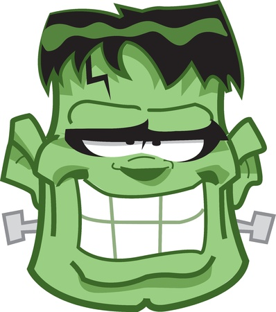 Classic Frankenstein Monster Cartoon Head
