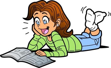 Personas leyendo animadas - Imagui