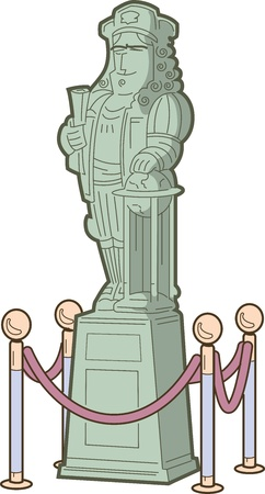 Statue of Columbus or other Great Historical Explorer or Figure Vector