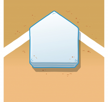 homeplate: Overhead View of Home Plate on a Baseball Field