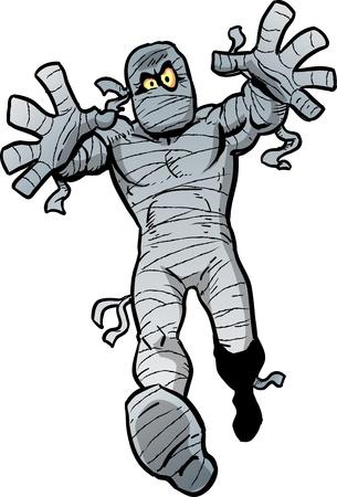 mummie: Mad Cartoon Mummy Waking naar u
